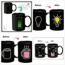 Magic Battery Tea Water Hot Cold Heat Sensitive Color Changing Mug Cup Funny