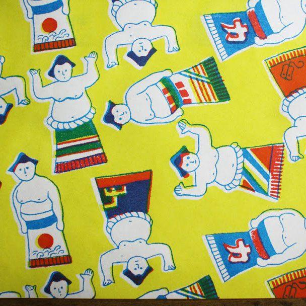 Yonagadou Modern Japan Reproduction Paper {Sumo Wrestlers} | UGUiSU Online Store