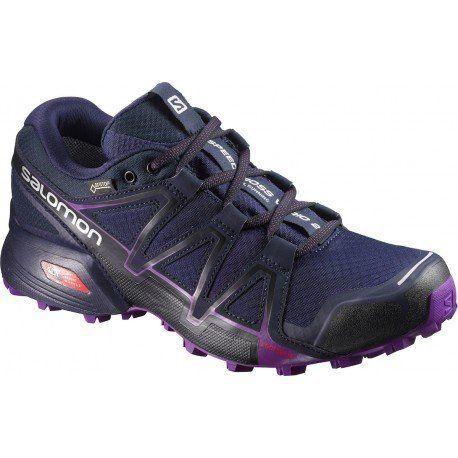 Salomon Femme Speedcross Vario 2 GTX Chaussures de Course à Pied et Trail Running, Synthétique/Textile, Bleu, Pointure: Chaussures de…