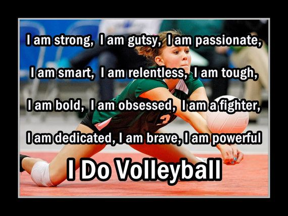 Vollyball Poster I Do Volleyball Photo Quote by ArleyArtEmporium