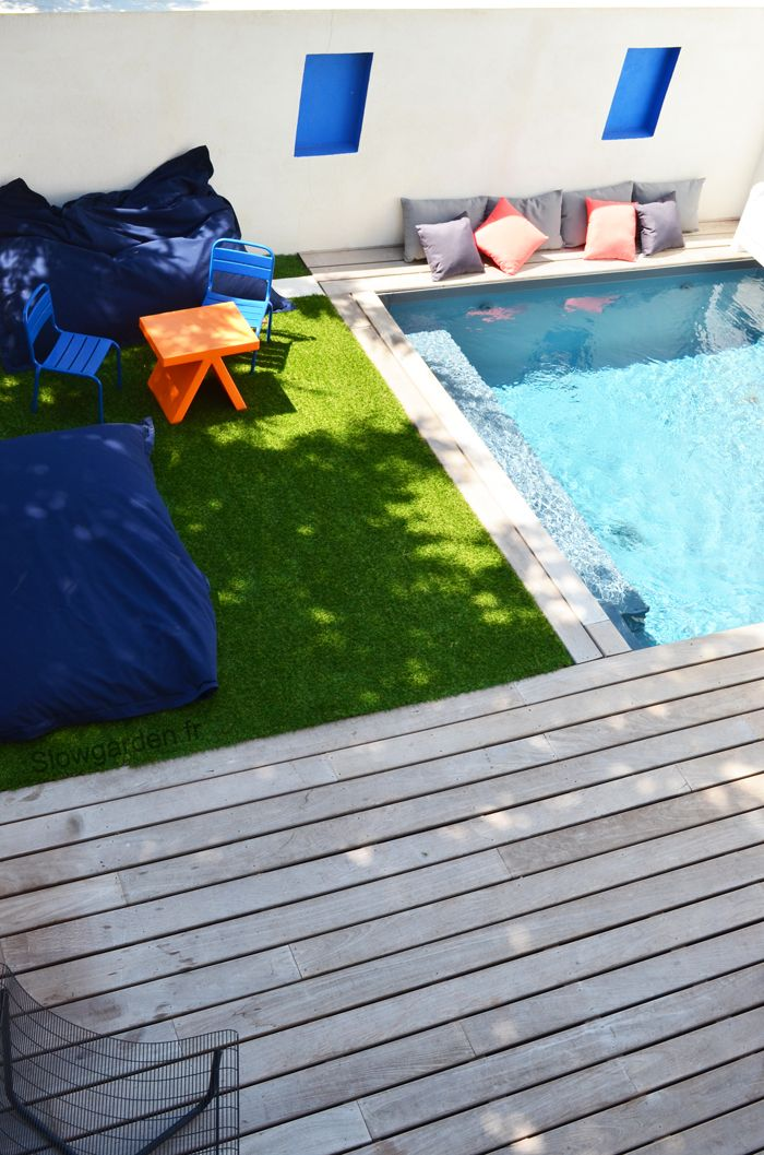 by Slowgarden / Inspiration deco outdoor : Une mini piscine pour ma terrasse. Small pool. Terrace pool.