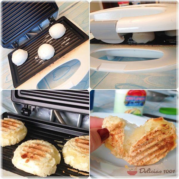Pão de queijo panini (na sanduicheira) - mesma receita de 3 ingredientes