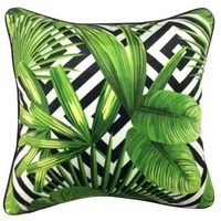 Set 2 Mono Pattern Palms Cushions Home Decor