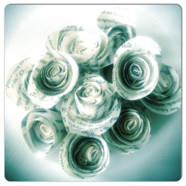 ALKEMISTEN DIY - Vackra rosor i papper