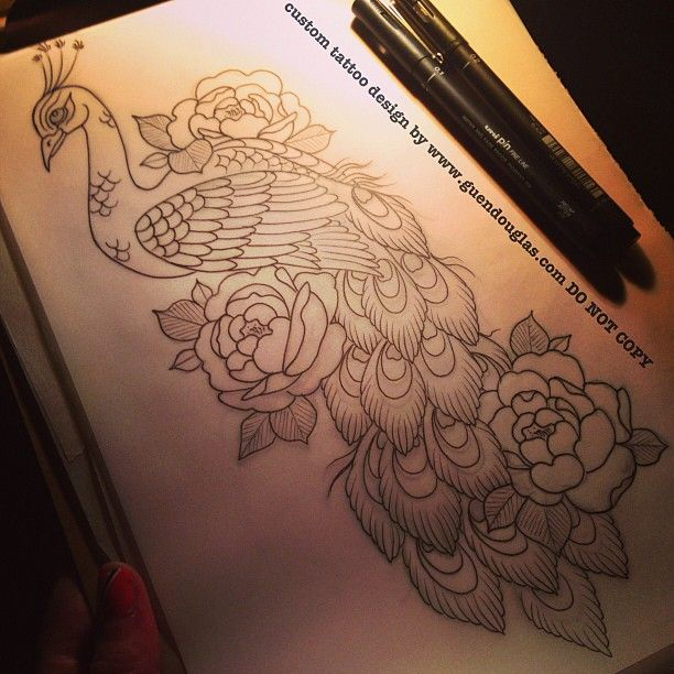 Today!!! #peony #peacock #tattoo #tattoos #mondialdutatouage