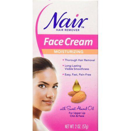 Nair Moisturizing Face Cream Hair Remover, 2 oz, Multicolor