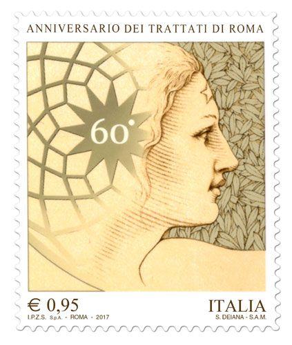 Francobollo celebrativo del 60° anniversario dei Trattati di Roma