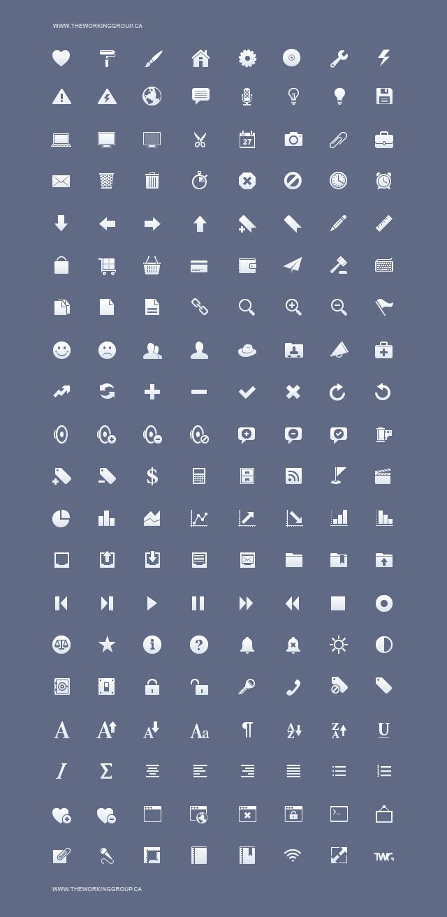 Free iphone toolbar icons
