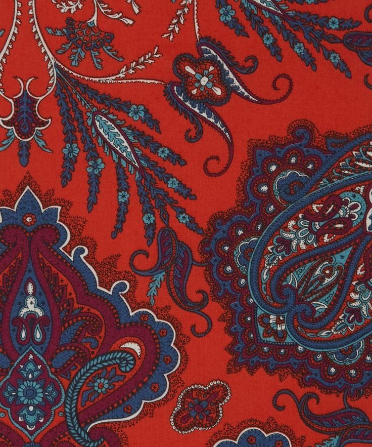 Liberty Art Fabrics Lady Paisley D Tana Lawn Cotton | Fabric | Liberty.co.uk