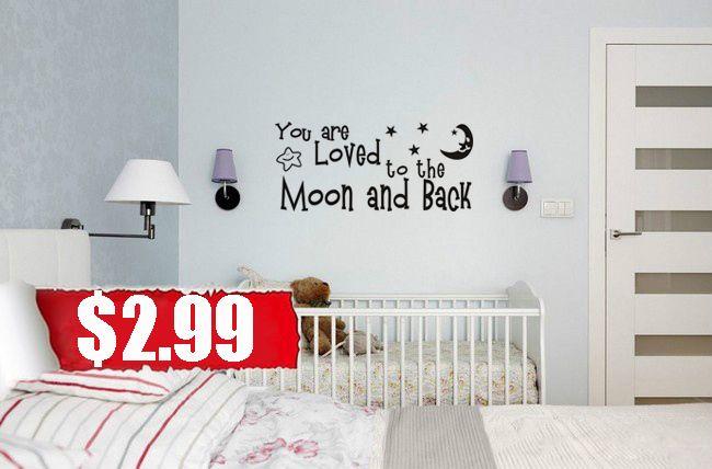 Вы Любили наклейки на стены виниловые наклейки домашнего декора детская комната украшение для детской комнаты