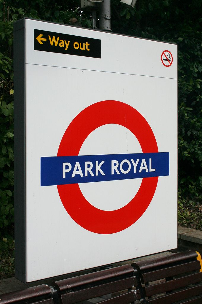 Park Royal London Underground Station in London, Greater London