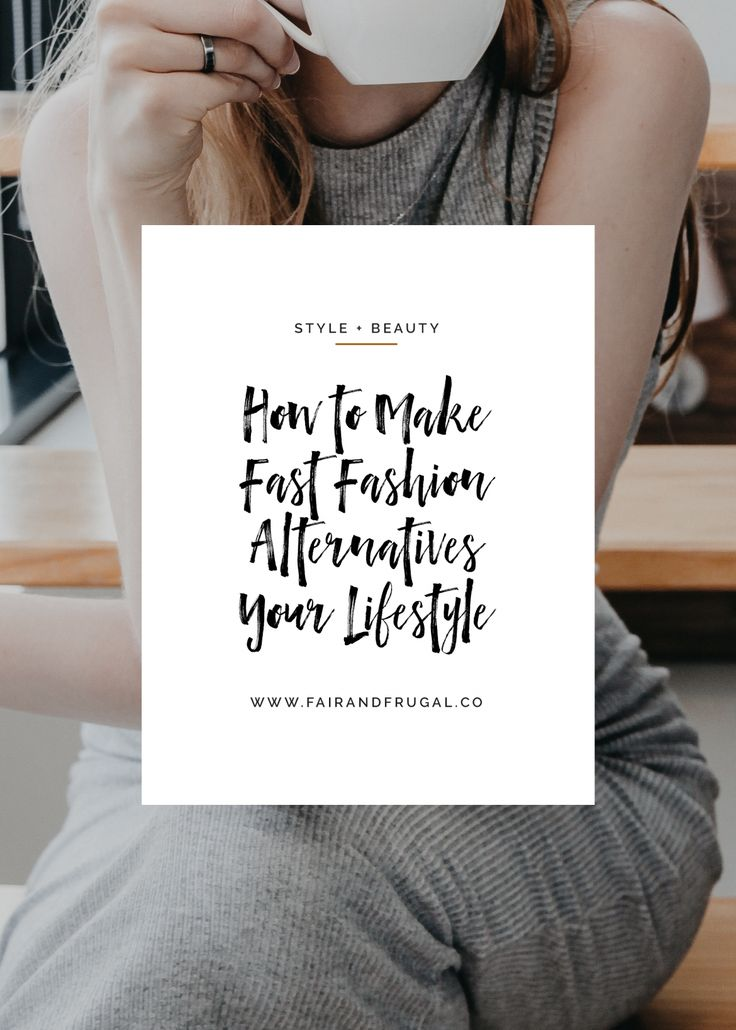 While it's not bad to buy the occasional Fair Trade product, what we need are lifetime warriors for fast fashion alternatives. Read more at #fairandfrugalco