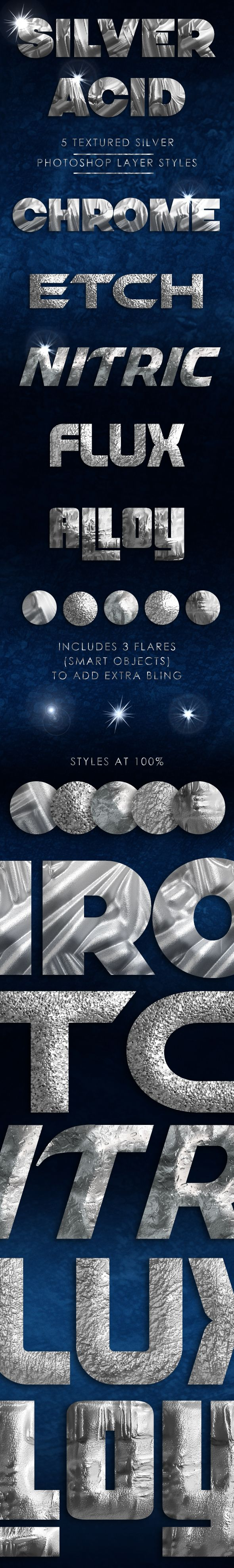 Silver acid layer styles
