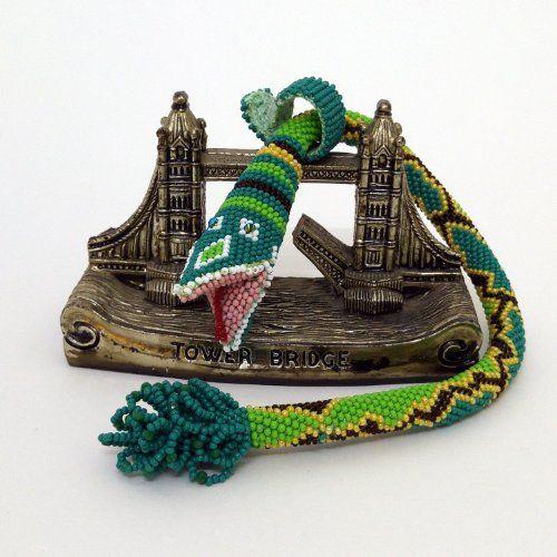 Amazon.com: Beaded Snake Bracelet - Beaded Bracelet - Beaded Crochet Bracelet - Snake Bracelet: Handmade