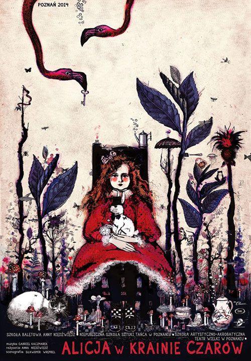 Alice in Wonderland, Polish Ballet Poster by Ryszard Kaja