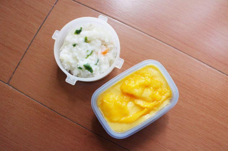 Toddler Lunchbox Recipes - Porridge Soup and Mango Yogtail. www.lifeatarcilland.com