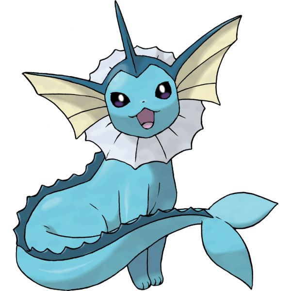 #Vaporeon from the official artwork set for #Pokemon FireRed and LeafGreen for #GBA. http://www.pokemondungeon.com/pokemon-firered-and-leafgreen-versions