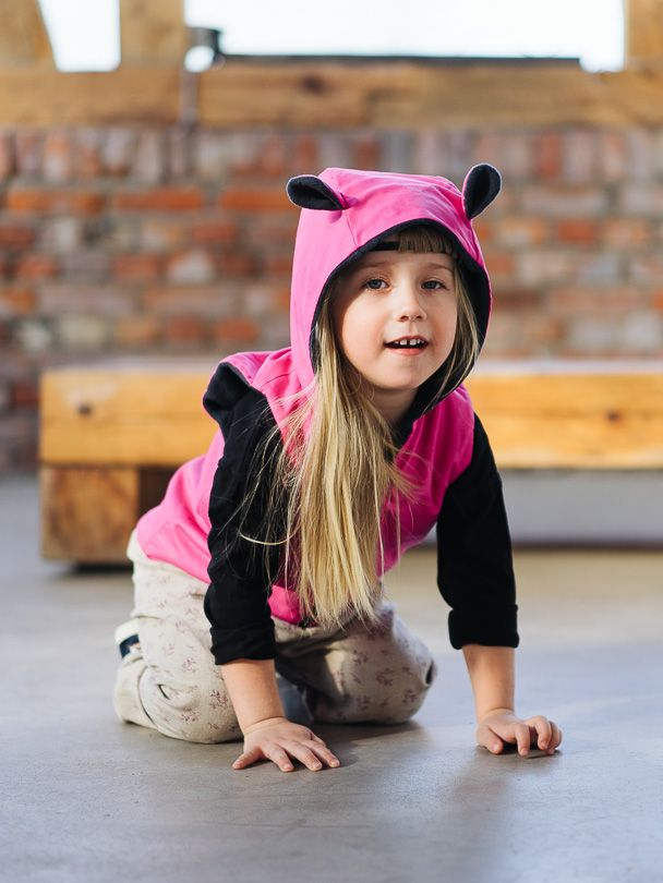 Vest PINK - Pantaloni Summer Tribes 2015 collection. Double-sided vest with ears. #summer #fashion #kids