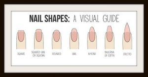 Different types of Nail Shapes.