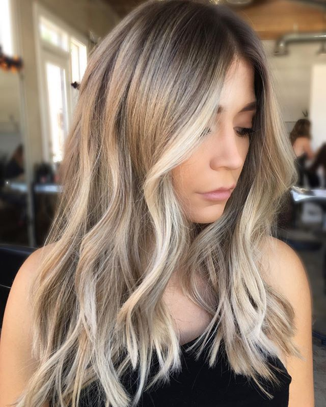 pretty color + loose curls