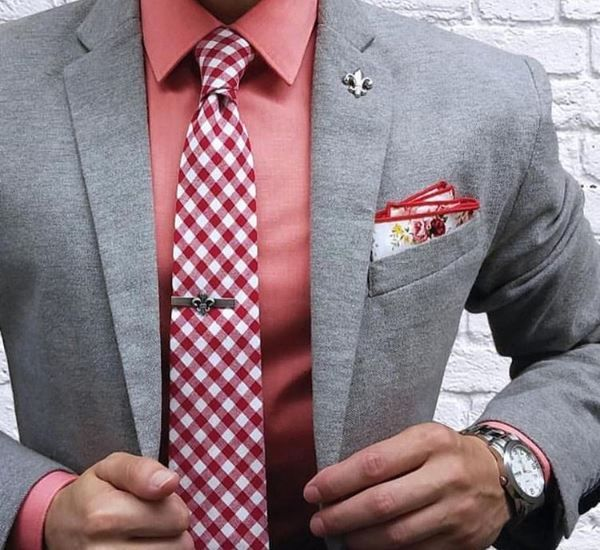 Red Plaid Necktie available on our website!