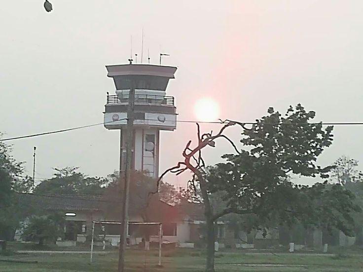 Atardecer en trinidad lamp post