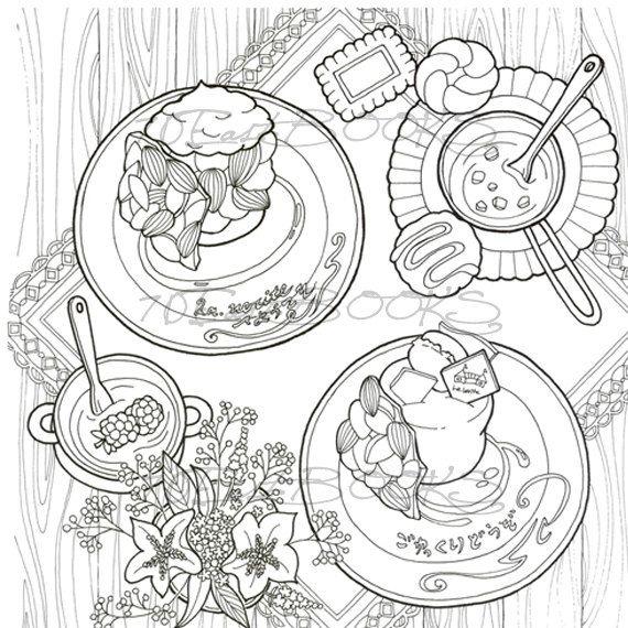 De 271 b sta colorir alimentos bilderna p pinterest for Sweet sixteen coloring pages