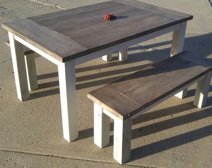 Farmhouse Table The Country Grammar Table Etsy Rustic Dining Set Farmhouse Table Diy Crafts For Home Decor