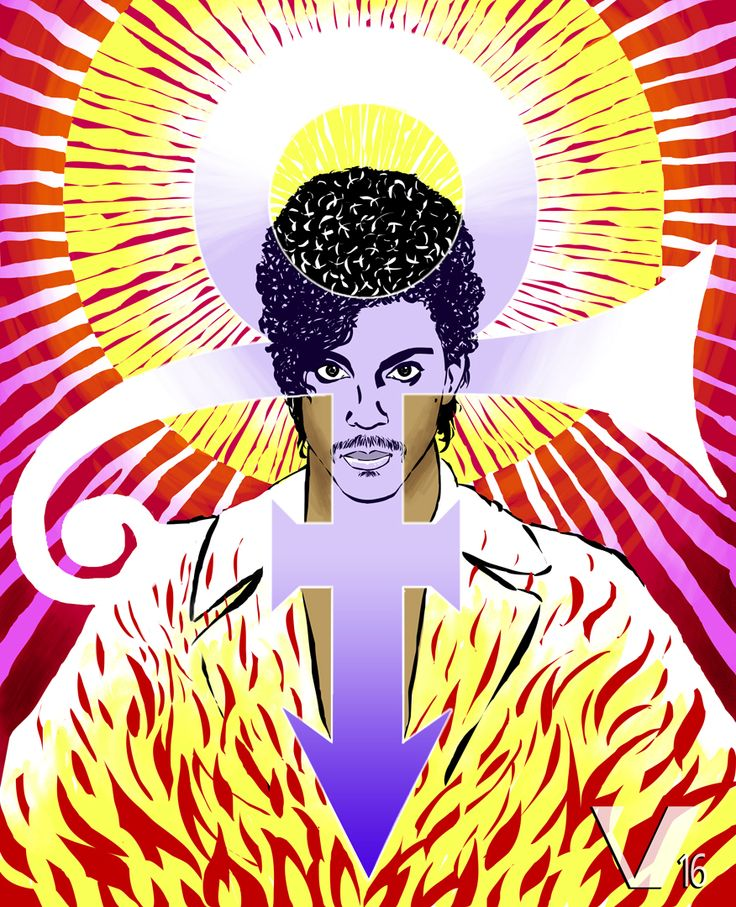 """[""""SYMBOL"""" - color version - april 2016 - Marius Vibe] After the shocking death of Prince, of course I had to make a portrait of him. It may not be much, but it's the least I could do to honor a true musical genius. #Prince #RIPPrince #Symbol #art #music #tribute"""