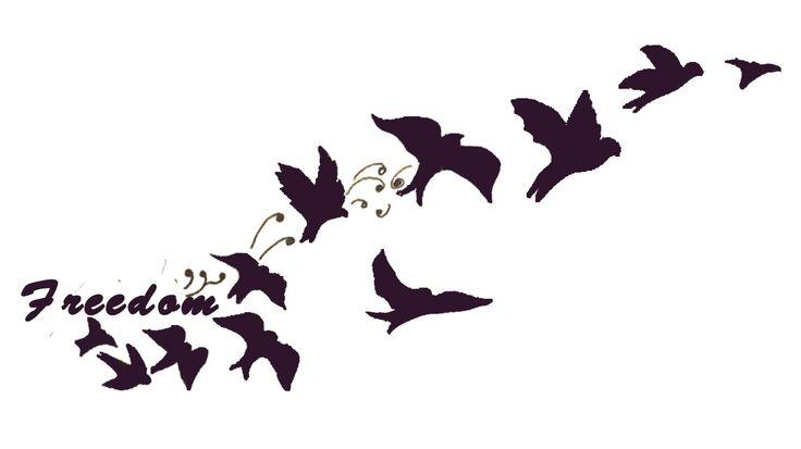 Freedom| Birds Tattoo | Tattoos | Pinterest | Bird tattoos ...
