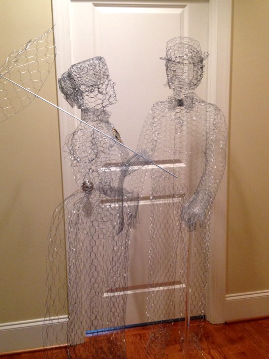 my second chicken wire ghost the mrs hauntforum halloween horrorhalloween - Halloween Horror Decorations