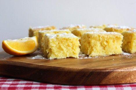 Brownie de chocolate branco e limão-siciliano | Eu Como Sim