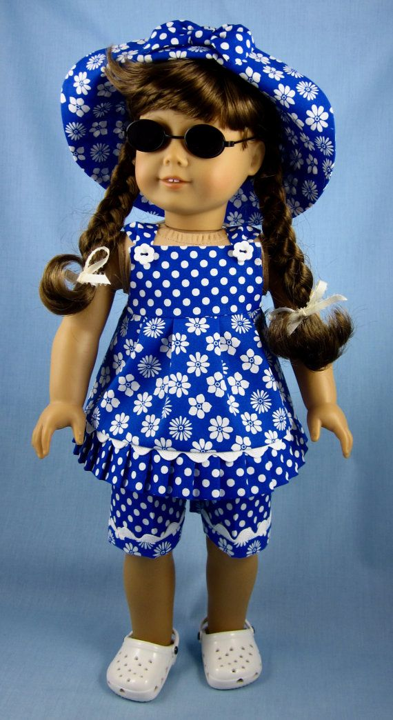 American Girl Doll Clothes Three Piece by SewMyGoodnessShop