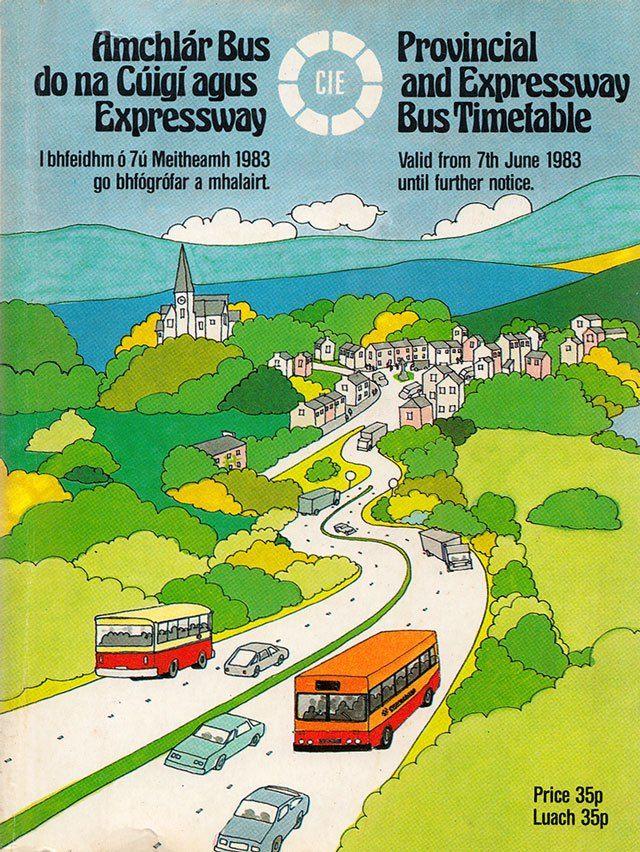 CIE Expressway Timetable 1983   Brand New Retro