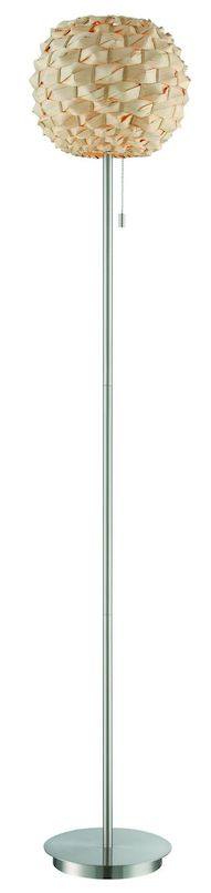Urchin Rattan Floor Lamp POLISHED STEEL $188.00