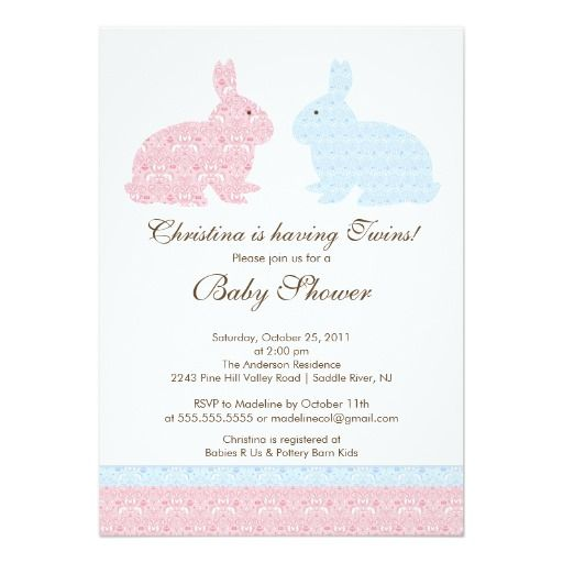 bunny baby shower invitation girl boy bunny baby showers baby shower