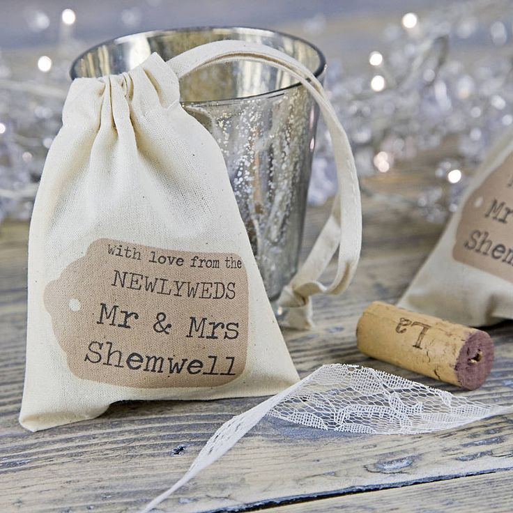Personalised Wedding Favour Bag | Wedding Thank You Gifts For Guests, Parents, Bridesmaids, Groomsmen