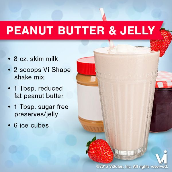 You'll never have to worry about cutting off the crusts when you whip up our ViSalus Shake recipe of the week, Peanut Butter & Jelly!