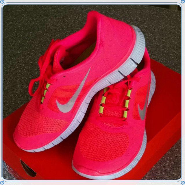 designer fashion 17281 ab2ca nike free run 3 5.0 neon lyserød hot punch bowl sneakerdiscount