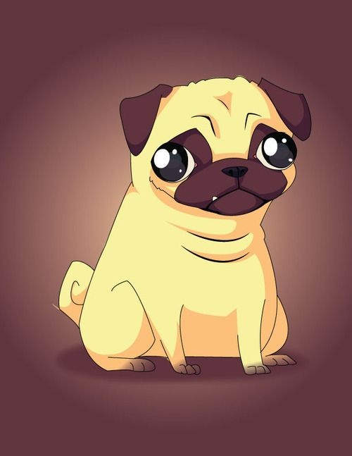A Cartoon Character Dog : Image result for cartoon pug ct alpha