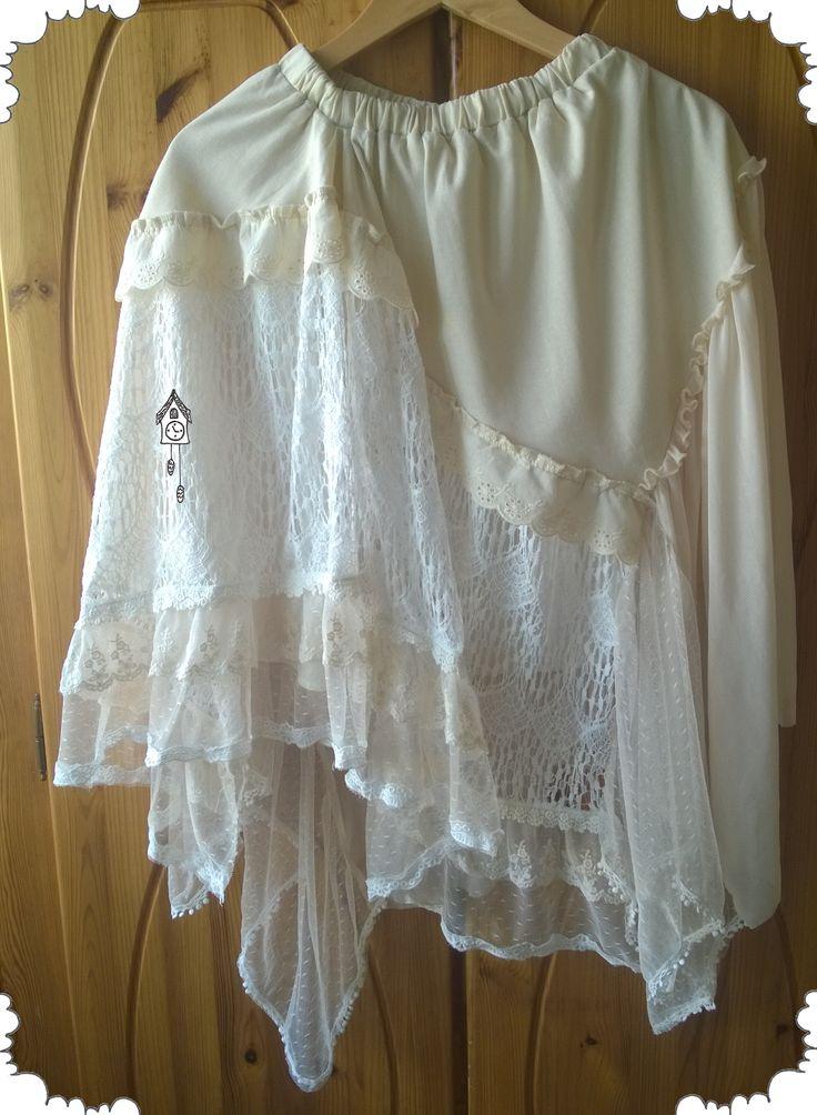 Asymetryczna spódnica z kilku różnych materiałów - 360 sposobów noszenia!