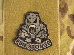 Fun sponge velcro badge