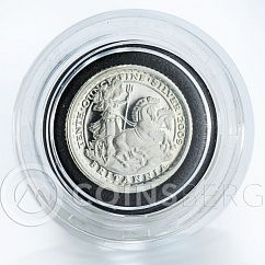 United Kingdom 20 pence Britannia Chariot silver proof coin 2009