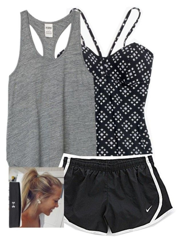 """""""kayaking """" by fast-and-weird ❤ liked on Polyvore featuring Madewell, Victoria's Secret PINK, NIKE and Under Armour"""