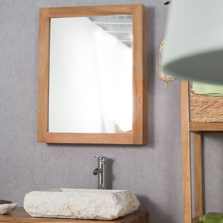 Soignez l'originalité de votre salle de bain grâce à cette armoire miroir murale.  L'armoire de toilette est muni de 3 niveaux de rangement afin d'optimiser votre espace bain. Longueur : 63 cm Hauteur : 80 cm Profondeur : 12 cm