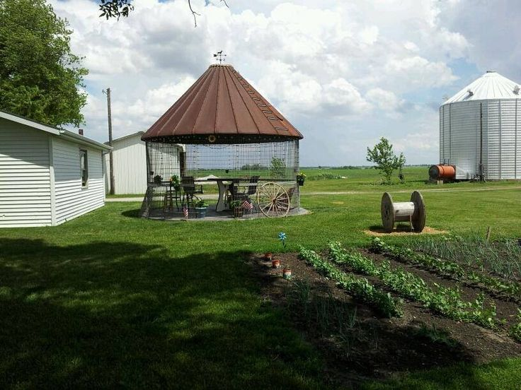 My New Corn Crib Gazebo.