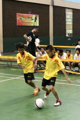 Tora versus Adhika in the 12 year 1v1 Soccer Final 2012