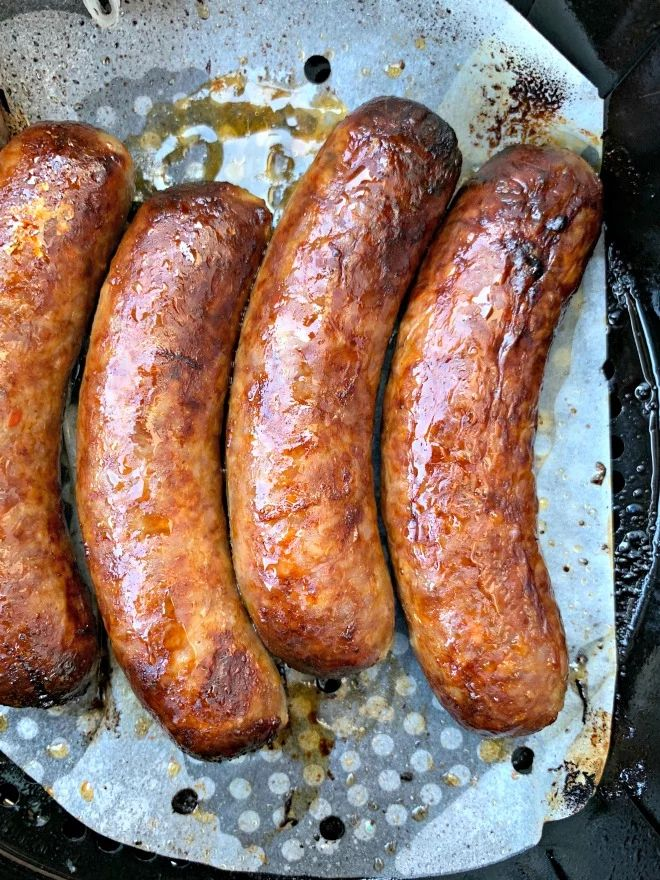 Quick and Easy Air Fryer Sausage + {VIDEO} in 2020
