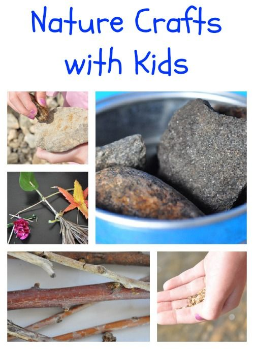 Neat, nature crafts with kids! Get outside this spring.  Move. Get the kids interested in something other than the TV or the computer.