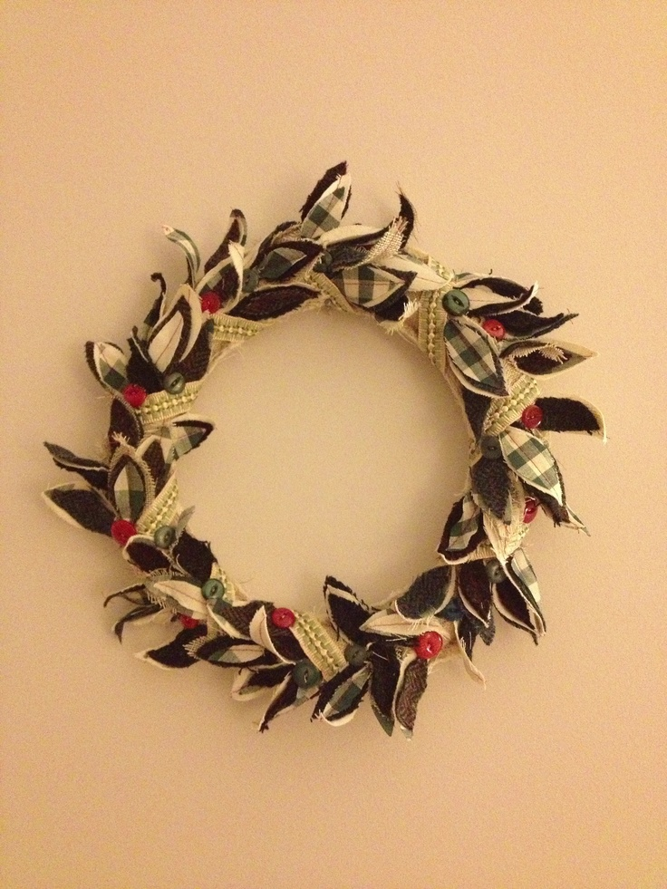Polly & Pia .....Handmade fabric wreath.